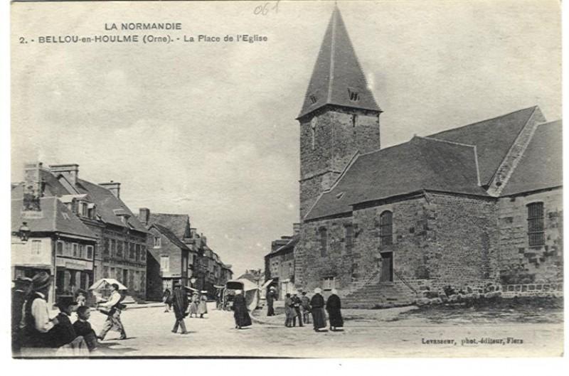 Bellou en Houlme - La place de l'Eglise
