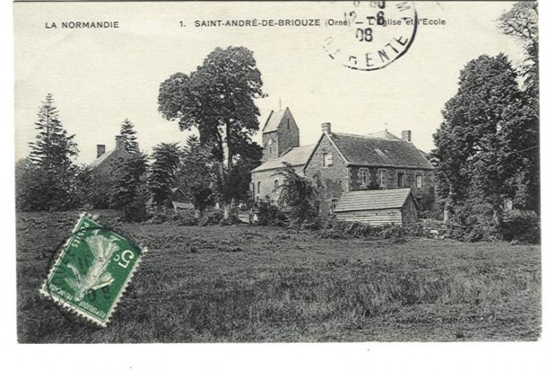 St André de Briouze - l'Eglise et l'Ecole